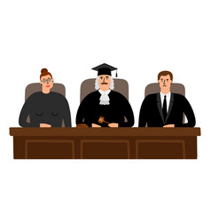 Judges court concept vector