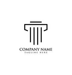 Justice law logo template design vector