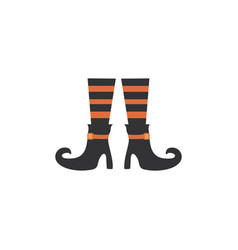 legs witch trick or treat happy halloween vector image