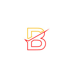 Letter b logo with checklist shape vector