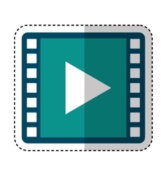 media player symbol isolated icon vector image