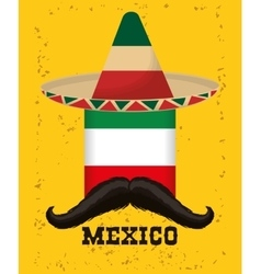 Mexico culture and landmark design vector