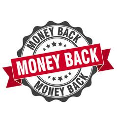 money back stamp sign seal vector image
