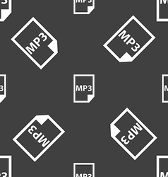 Mp3 icon sign Seamless pattern on a gray vector