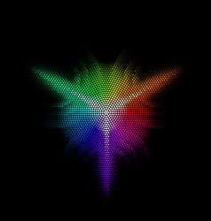 Multicolored equalizer round Dotst digital star 01 vector