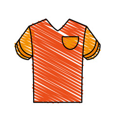 Orange shirt design vector