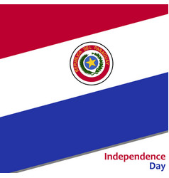 Paraguay independence day vector