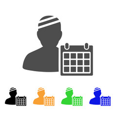 Patient appointment calendar flat icon vector