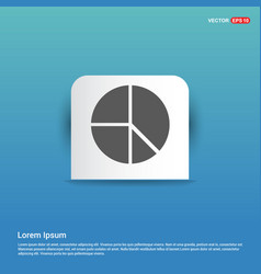 Pie chart - blue sticker button vector