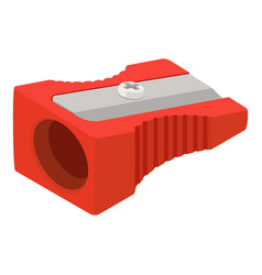 Red sharpener icon isometric style vector