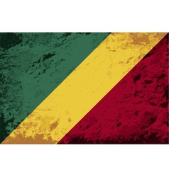Republic of the Congo flag Grunge background vector image
