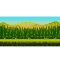 Seamless fantasy landscape game background vector