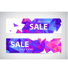 set abstract origami geometric sale vector image