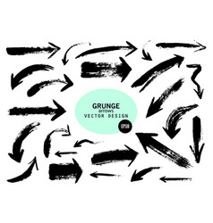 Set of different grunge brush arrows pointers vector