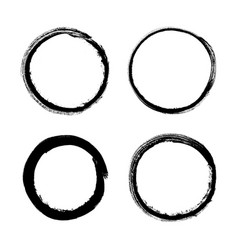 set of grunge circle vector image
