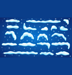 Set of snowdrifts vector
