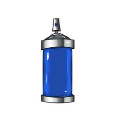 Sprays with blue paint vector
