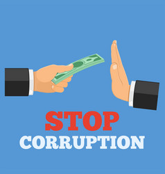 Stop corruption concept vector