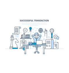 successful transaction concluded contracts vector image