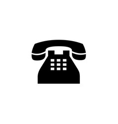 telephone icon in flat style for apps ui websites vector image
