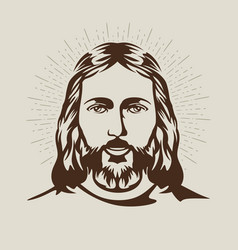 the face of jesus christ vector image