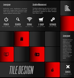 Tile Design vector image