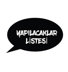 To do list stamp in turkish vector