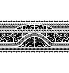 Tribal style arm band tattoo seamless vector