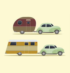 vintage camping cars vector image
