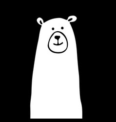 White bear sketch for your design vector