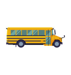 yellow school bus side view back to school vector image