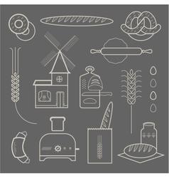 Bread icons vector image