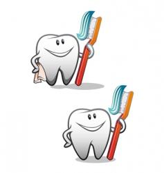 clean teeth vector image vector image