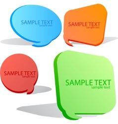 colorful speech bubble set vector image vector image