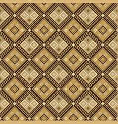 seamless pattern with geometric ornament vector image