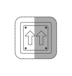sticker silhouette metallic square frame same vector image vector image