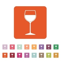 The wineglass icon Goblet symbol Flat vector image