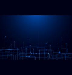 abstract futuristic circuit board and hi-tech vector image vector image
