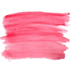 Abstract watercolor hand red paint vector image vector image