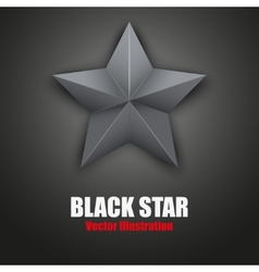 Background of Black five-pointed star vector image vector image