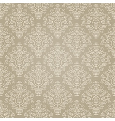 Golden retro seamless pattern vector image
