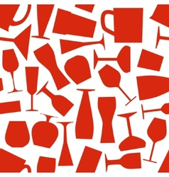 seamless glass pattern vector image vector image