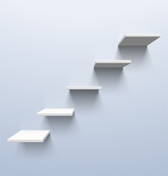 Shelves in the shape of stairs vector image