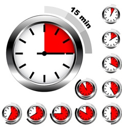 simple timers vector image