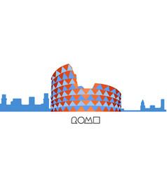 skyline of rome vector image