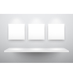 3d isolated empty shelf vector image vector image