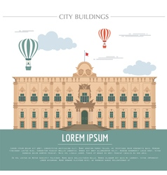 City buildings graphic template Grand Master vector image