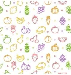 Fruits and Vegetables Background Pattern vector image