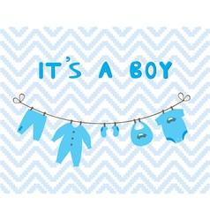 it is a boy vector image vector image