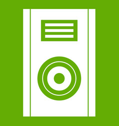 music speaker icon green vector image vector image